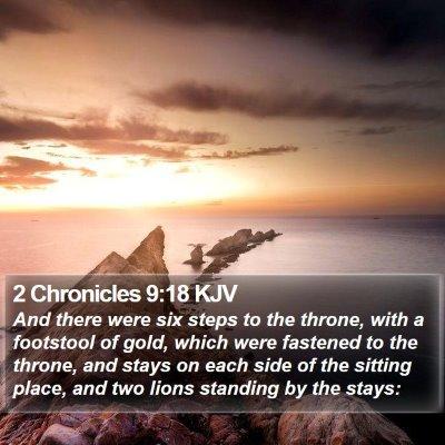 2 Chronicles 9:18 KJV Bible Verse Image