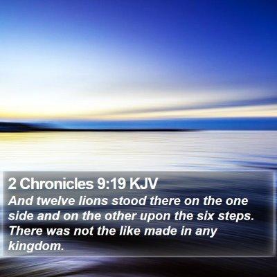 2 Chronicles 9:19 KJV Bible Verse Image