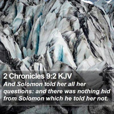 2 Chronicles 9:2 KJV Bible Verse Image