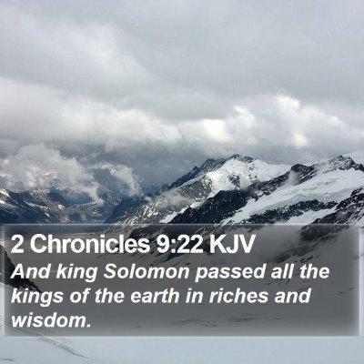 2 Chronicles 9:22 KJV Bible Verse Image