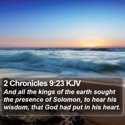2 Chronicles 9:23 KJV Bible Verse Image