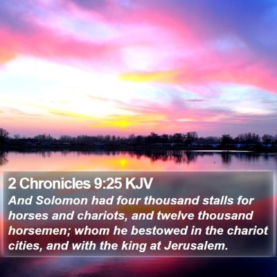 2 Chronicles 9:25 KJV Bible Verse Image