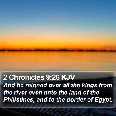 2 Chronicles 9:26 KJV Bible Verse Image