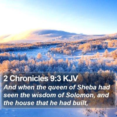 2 Chronicles 9:3 KJV Bible Verse Image