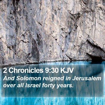 2 Chronicles 9:30 KJV Bible Verse Image