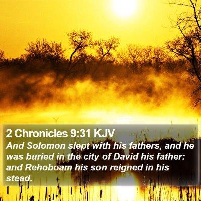 2 Chronicles 9:31 KJV Bible Verse Image