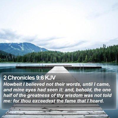 2 Chronicles 9:6 KJV Bible Verse Image