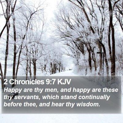 2 Chronicles 9:7 KJV Bible Verse Image