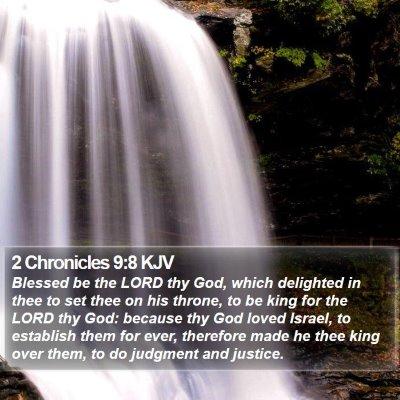 2 Chronicles 9:8 KJV Bible Verse Image