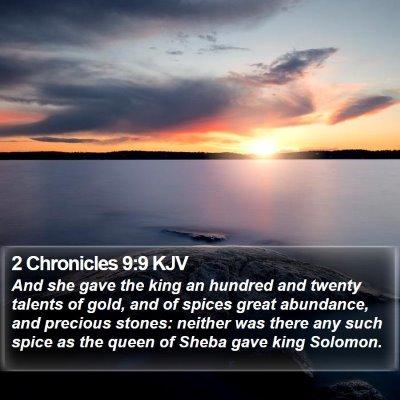 2 Chronicles 9:9 KJV Bible Verse Image