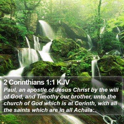 2 Corinthians 1:1 KJV Bible Verse Image