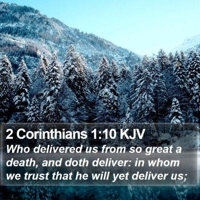 2 Corinthians 1:10 KJV Bible Verse Image
