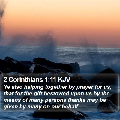 2 Corinthians 1:11 KJV Bible Verse Image