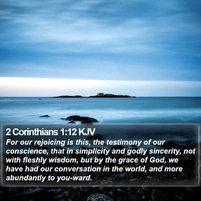 2 Corinthians 1:12 KJV Bible Verse Image