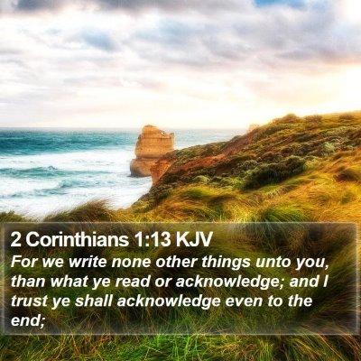 2 Corinthians 1:13 KJV Bible Verse Image