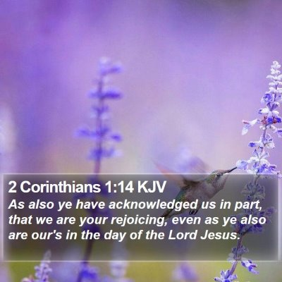 2 Corinthians 1:14 KJV Bible Verse Image