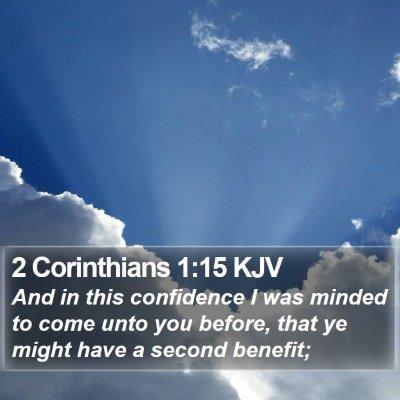 2 Corinthians 1:15 KJV Bible Verse Image
