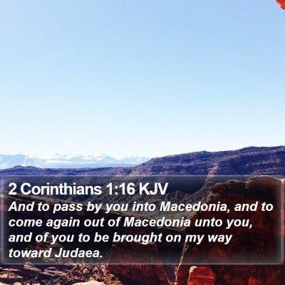 2 Corinthians 1:16 KJV Bible Verse Image