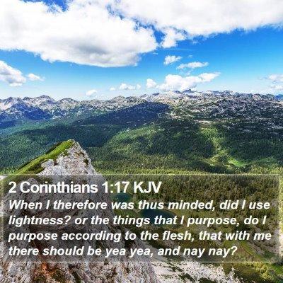 2 Corinthians 1:17 KJV Bible Verse Image