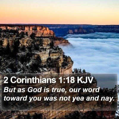 2 Corinthians 1:18 KJV Bible Verse Image