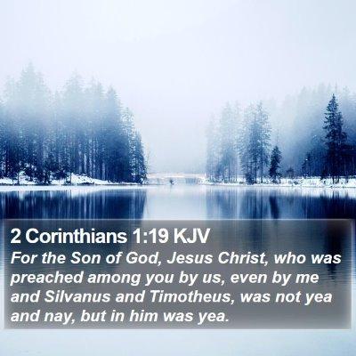 2 Corinthians 1:19 KJV Bible Verse Image