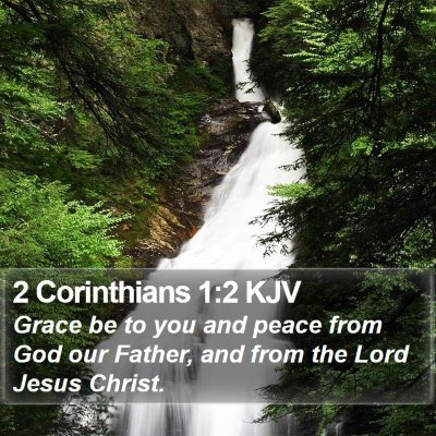 2 Corinthians 1:2 KJV Bible Verse Image