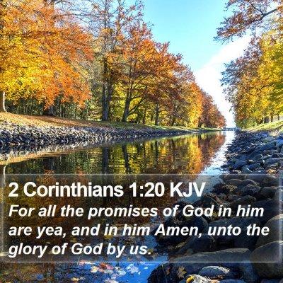 2 Corinthians 1:20 KJV Bible Verse Image