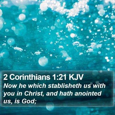 2 Corinthians 1:21 KJV Bible Verse Image