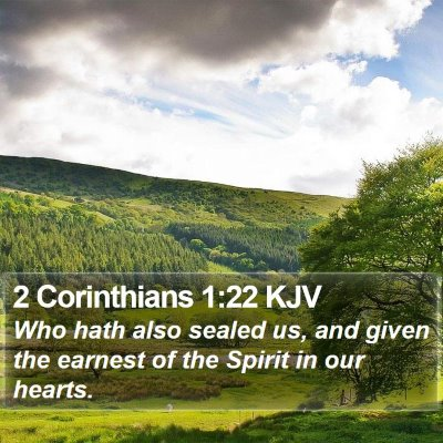 2 Corinthians 1:22 KJV Bible Verse Image