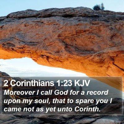 2 Corinthians 1:23 KJV Bible Verse Image