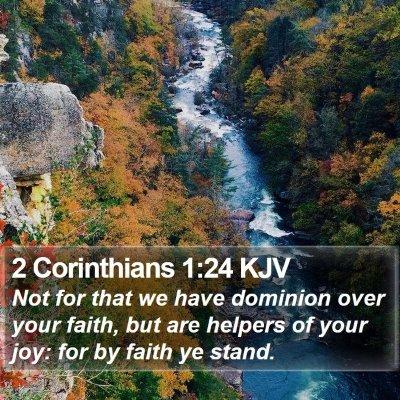 2 Corinthians 1:24 KJV Bible Verse Image