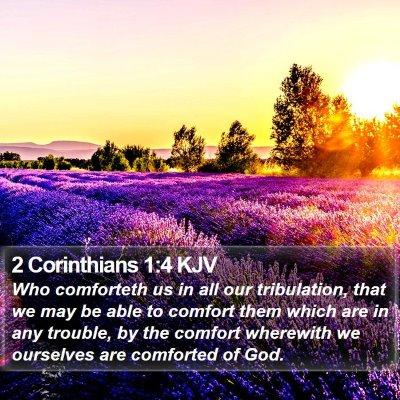 2 Corinthians 1:4 KJV Bible Verse Image