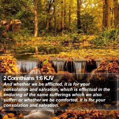 2 Corinthians 1:6 KJV Bible Verse Image