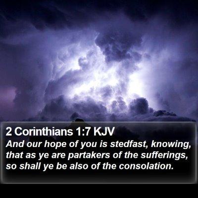 2 Corinthians 1:7 KJV Bible Verse Image