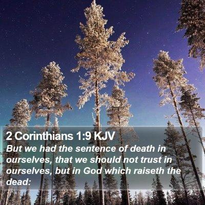 2 Corinthians 1:9 KJV Bible Verse Image