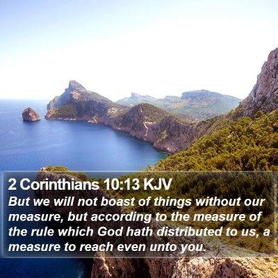 2 Corinthians 10:13 KJV Bible Verse Image