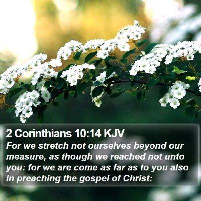 2 Corinthians 10:14 KJV Bible Verse Image