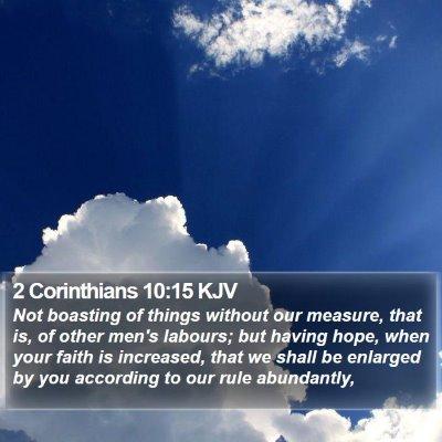 2 Corinthians 10:15 KJV Bible Verse Image