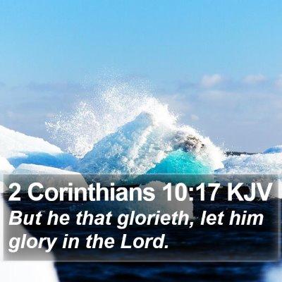 2 Corinthians 10:17 KJV Bible Verse Image
