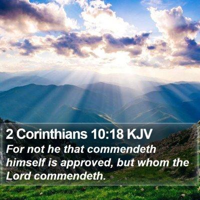 2 Corinthians 10:18 KJV Bible Verse Image