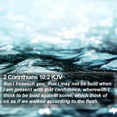 2 Corinthians 10:2 KJV Bible Verse Image