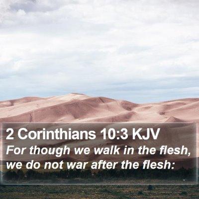 2 Corinthians 10:3 KJV Bible Verse Image