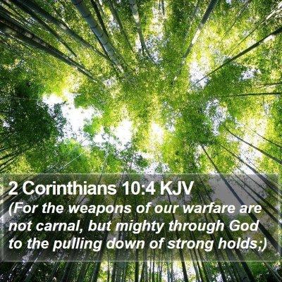 2 Corinthians 10:4 KJV Bible Verse Image