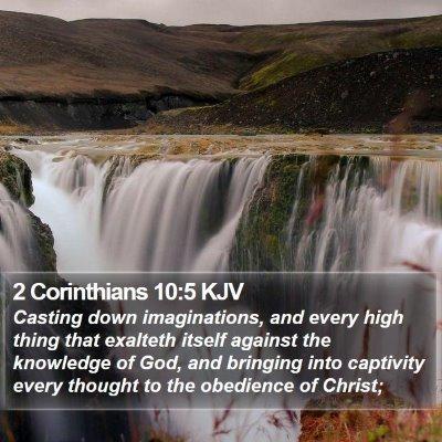 2 Corinthians 10:5 KJV Bible Verse Image