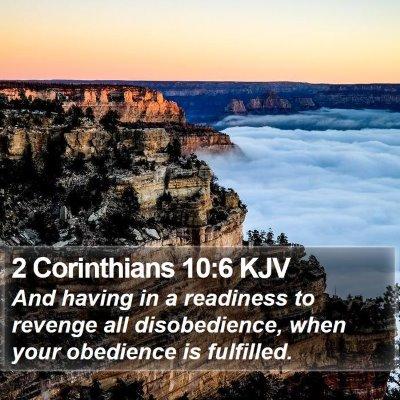 2 Corinthians 10:6 KJV Bible Verse Image