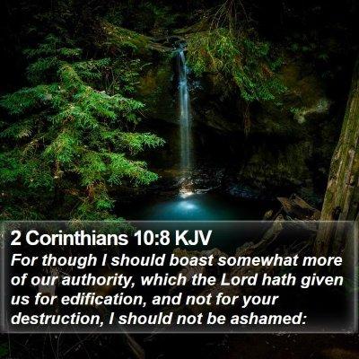 2 Corinthians 10:8 KJV Bible Verse Image