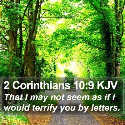2 Corinthians 10:9 KJV Bible Verse Image