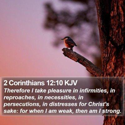 2 Corinthians 12:10 KJV Bible Verse Image