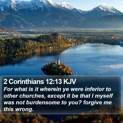 2 Corinthians 12:13 KJV Bible Verse Image