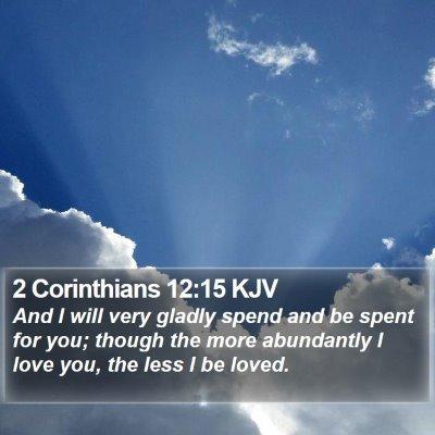 2 Corinthians 12:15 KJV Bible Verse Image